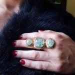 anillos grandes de piedras semipreciosas