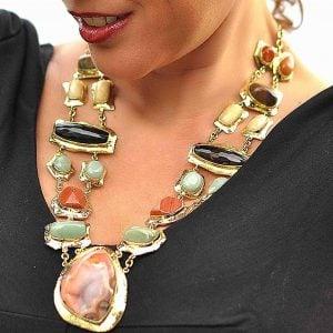 COLLAR DE moda piedras de agata 4
