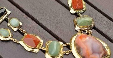 COLLAR DE moda piedras de agata 1