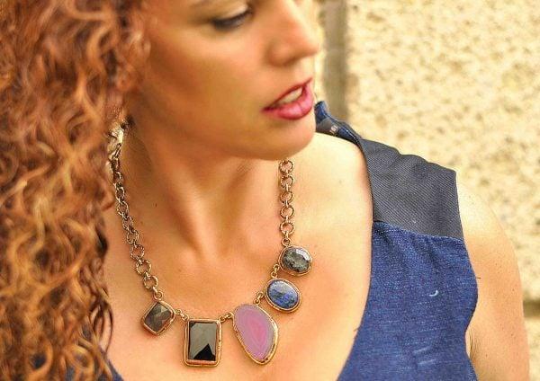 Collar de moda en piedras naturales 1