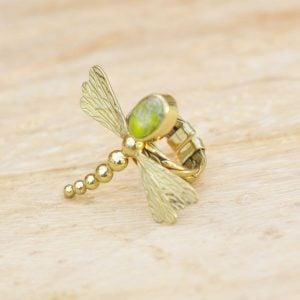 anillos de moda piedra natural unikita libélula