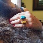 anillos grandes de piedra natural