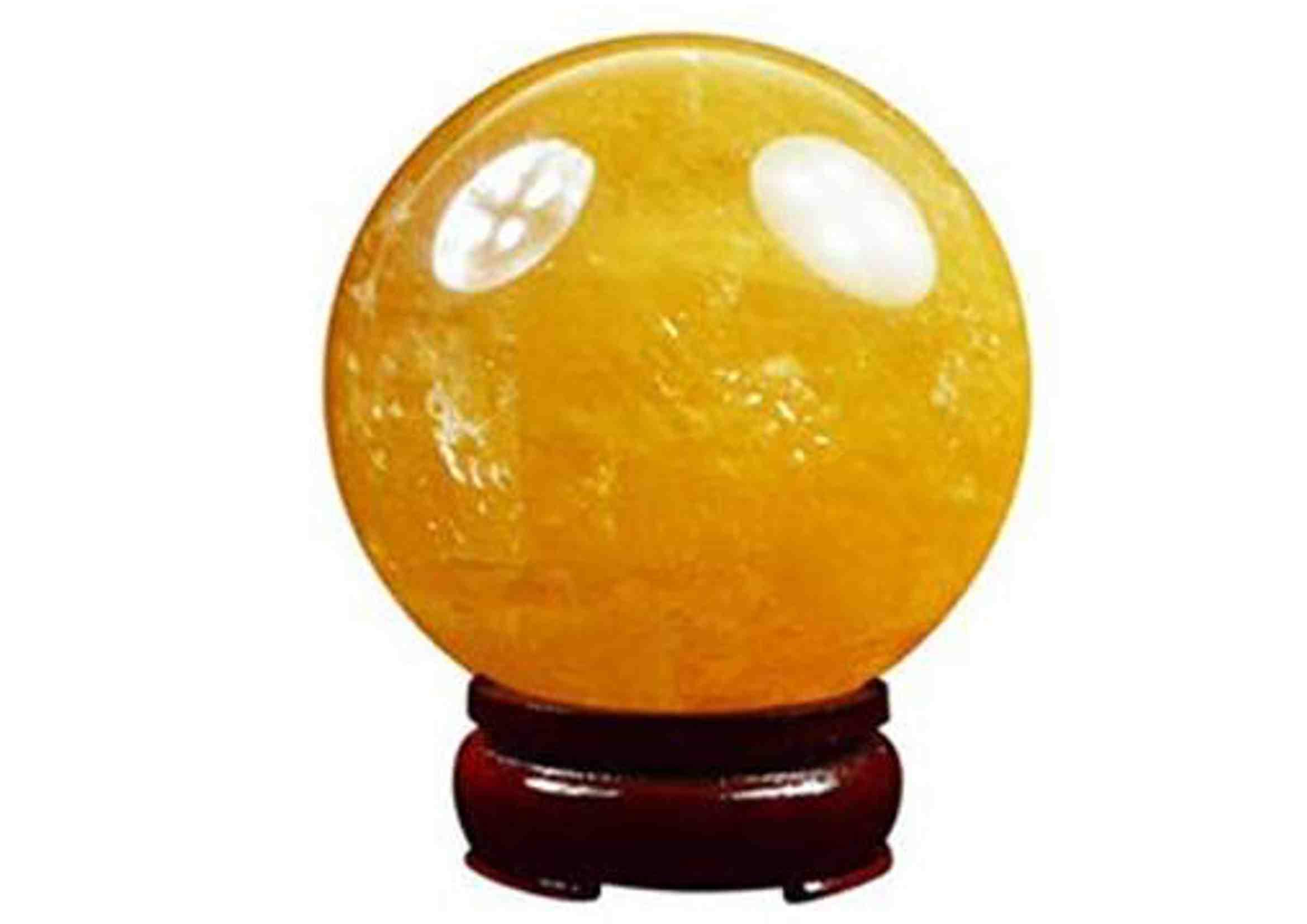 bola de cuarzo citrino decoración
