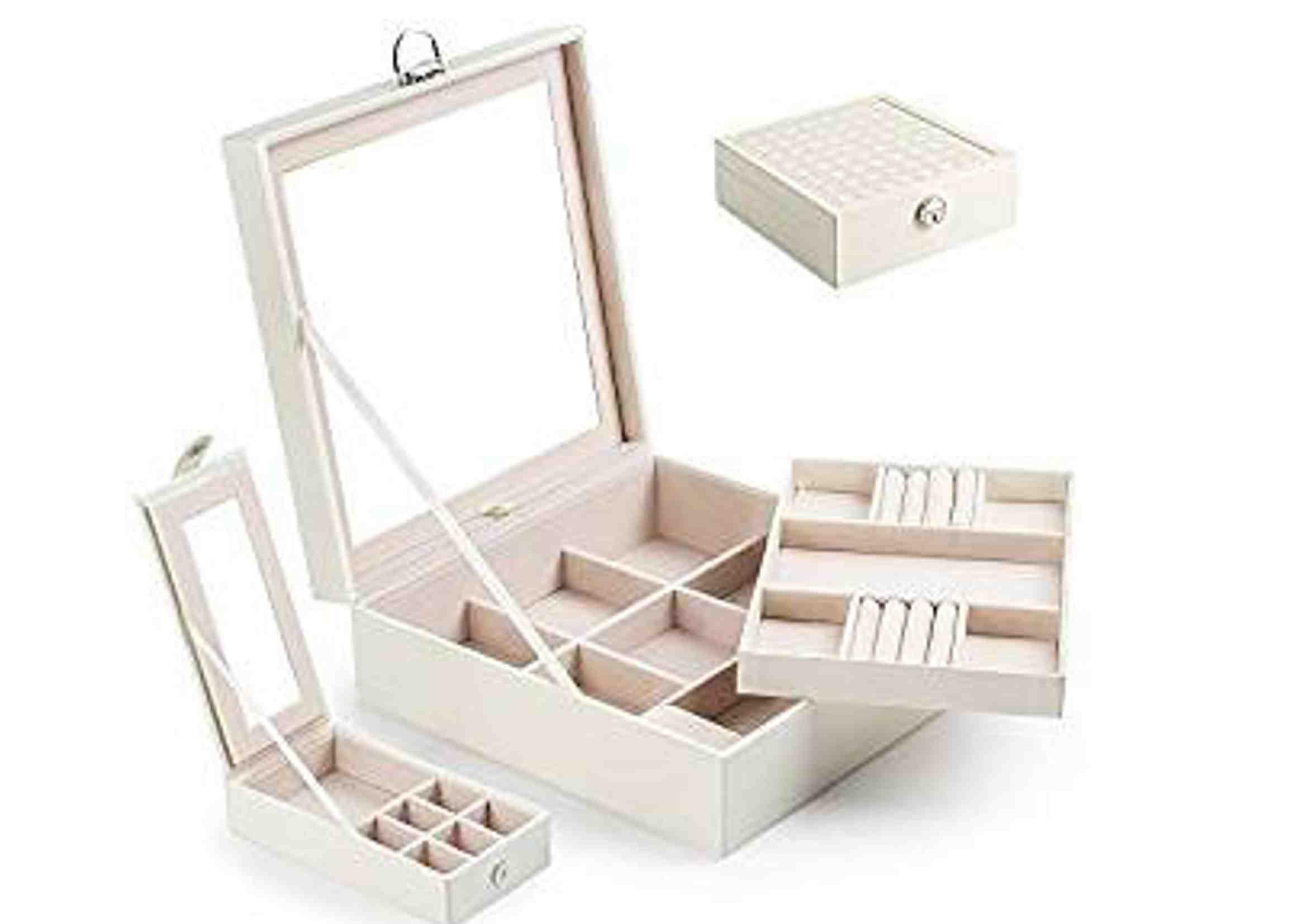 caja de joyero con espejo