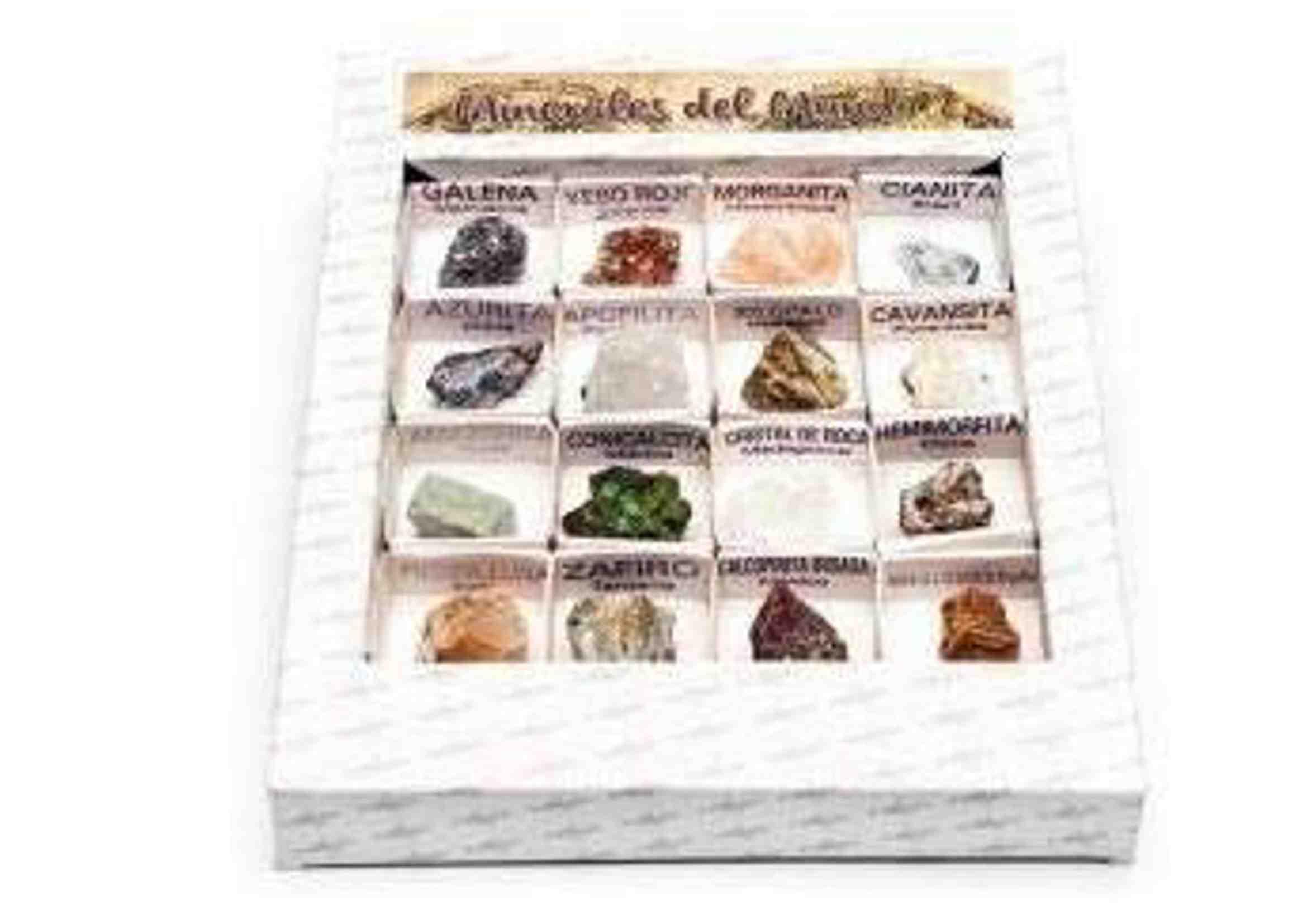 caja de minerales del mundo colección 1