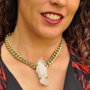collar de moda punta de cuarzo 5