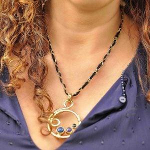 collar geométrico de moda en piedras naturales 5