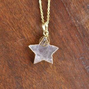 collares perzonalizados colgante estrella en ágata 1