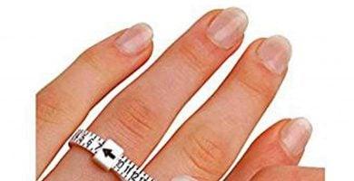medidor del diámetro del dedo para anillos