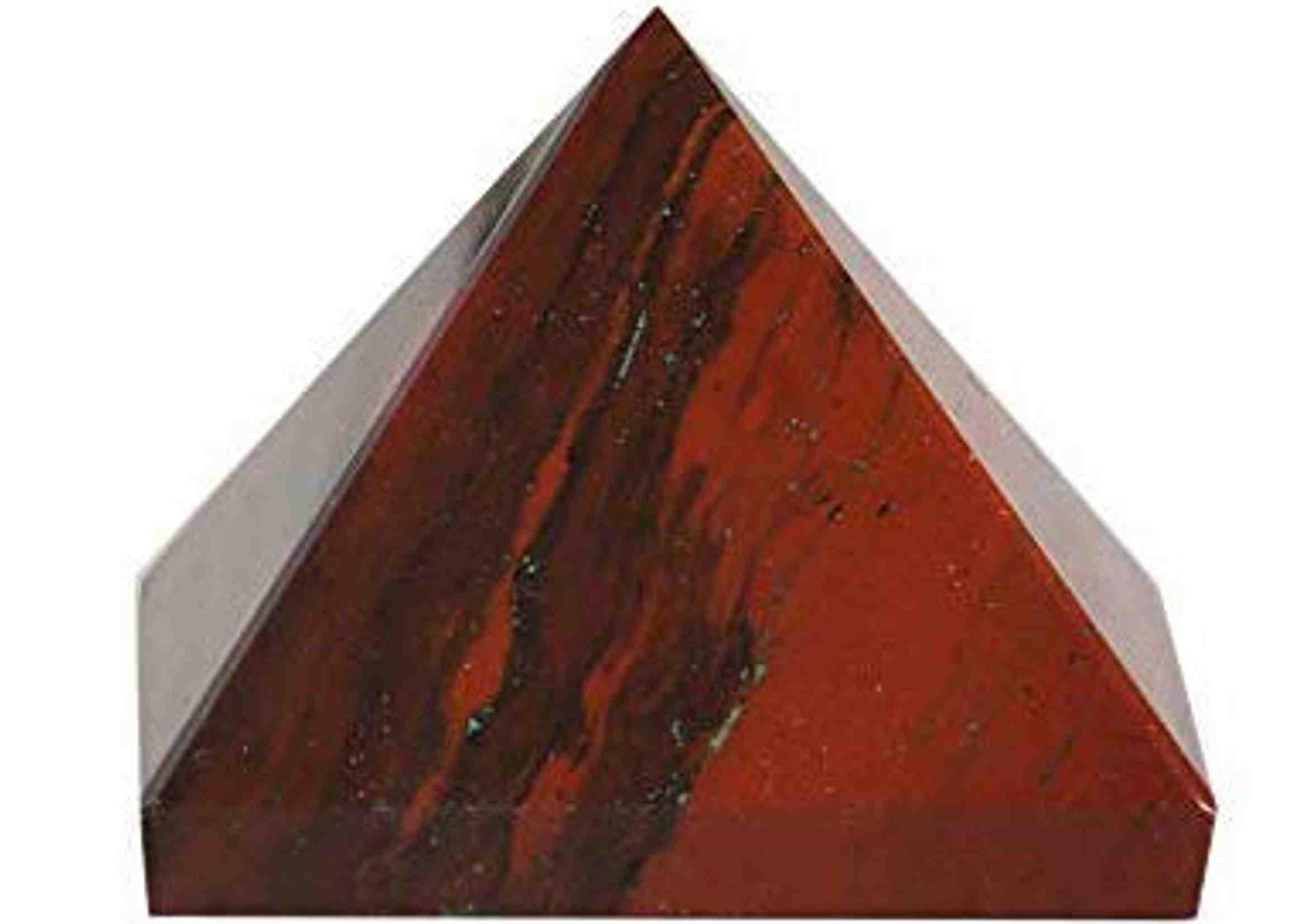 piramide de jaspe rojo
