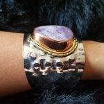 pulsera de amatista en piedra natural