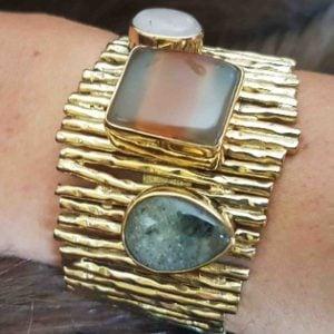 pulsera de moda de agata piedra natural