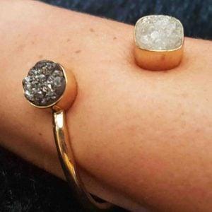 pulseras de diseño en geoda de ágata 1