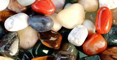 selección de las piedras semipreciosas