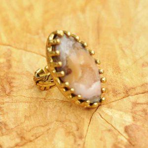 anillos-boho-de-geoda-de-ágata-natural