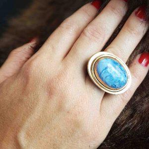 anillos de moda sodalita