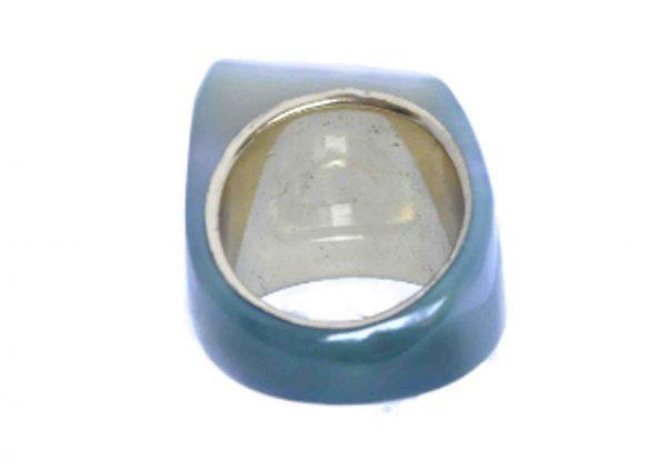 anillos grandes agata verde geoda 5