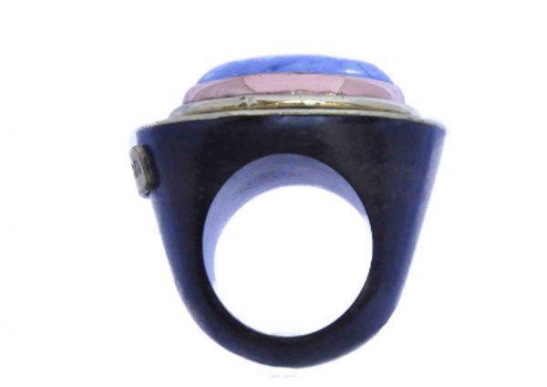 anillos grandes de sodalita en piedra natural 5